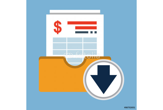 Invoice Archive.Vector Flat Icon 64239