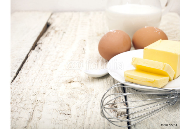 Eggs, milk and butter 64239