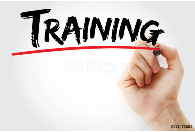 Hand writing Training with red marker, business concept 64239