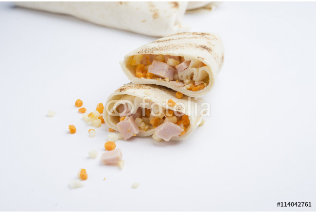 mexican burritos isolated on a white background 64239