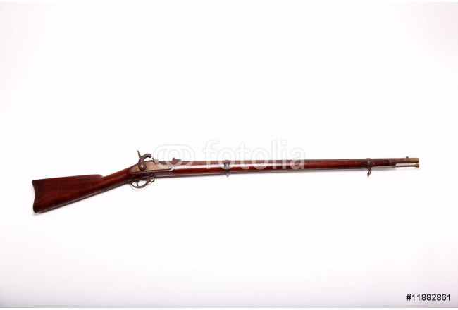 Civil War Musket and Clipping Path 64239