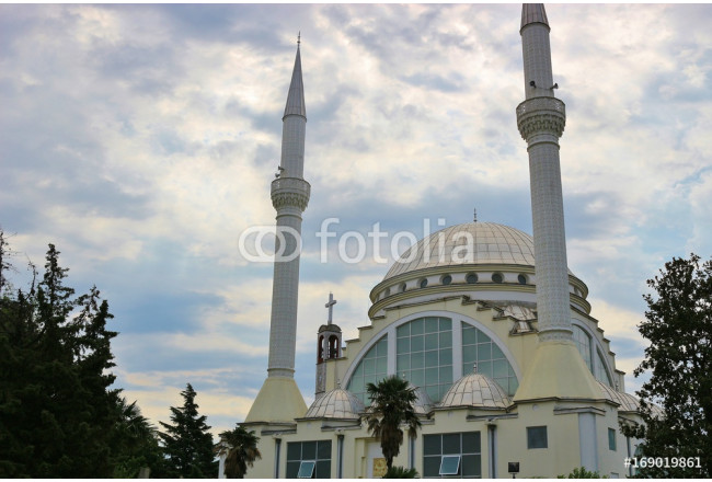 The Ebu Bekr Mosque, or Great Mosque, in the center of Shkoder, Albania, South-East Europe. 64239