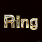 Ring word bling 64239