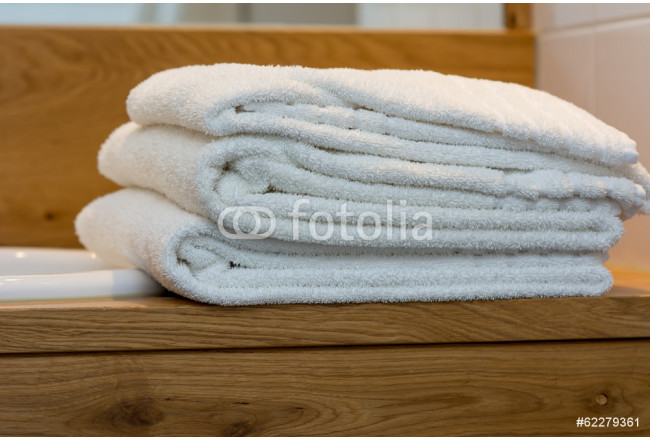stack of hotel towels 64239