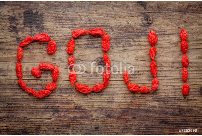 goji berries on a rustic background 64239