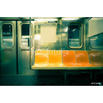 Vintage toned image of New York City subway car 64239