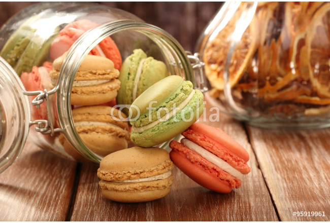 Homemade meringue macaroons in the jar 64239