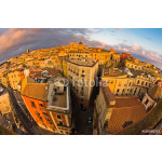 Panoramic view of Cagliari downtown at sunset in Sardinia, Italy 64239