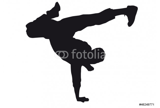 Dancer silhouette on a white background 64239