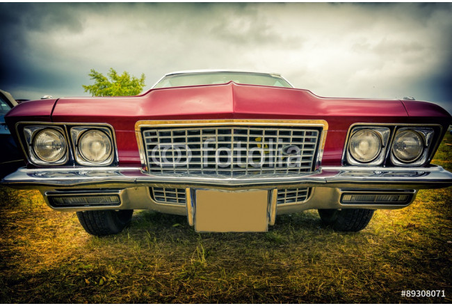 Art painting old american car in vintage style 64239