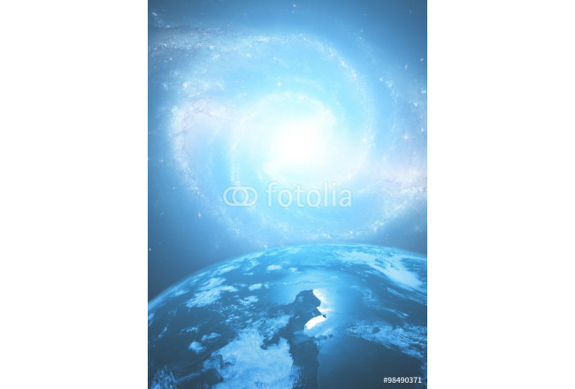 Earth with a starry background.  64239