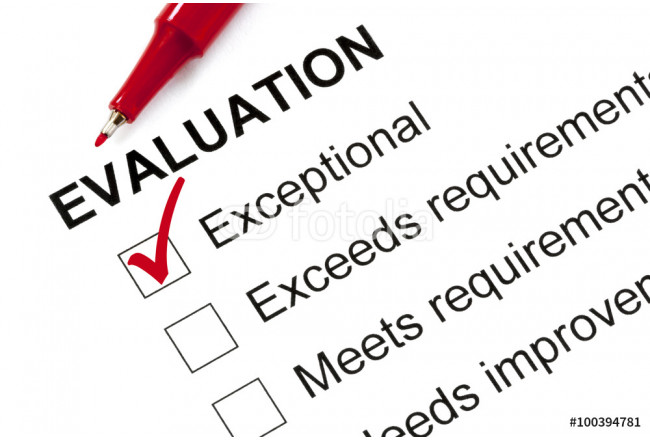 Evaluation Form Marked Exceptional 64239