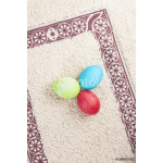 colorful easter eggs on a beautiful rug 64239