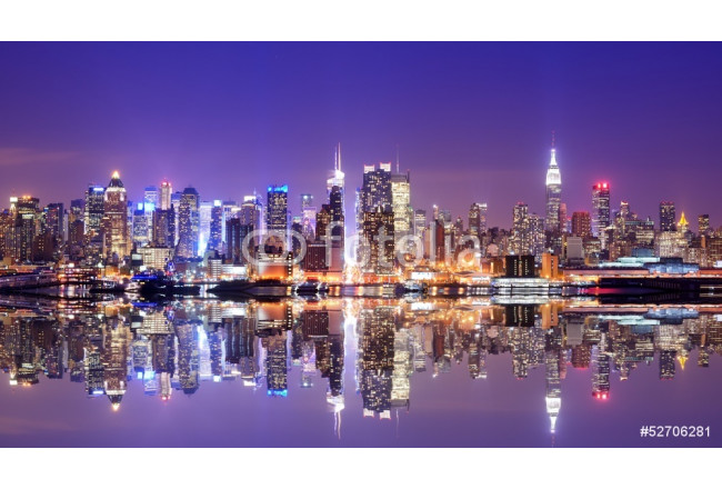 Manhattan Skyline with Reflections 64239
