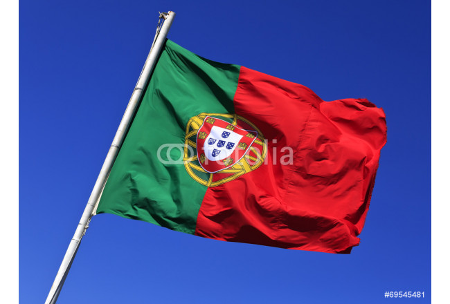 Flag of Portugal in the wind, Lisbon, Portugal. 64239