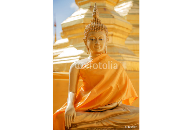 Art painting Buddha sculpture in thailand temple 64239