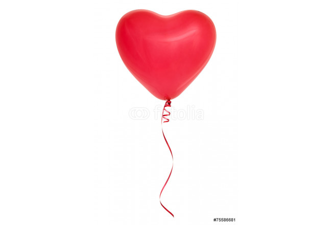 Red heart shaped balloon. 64239