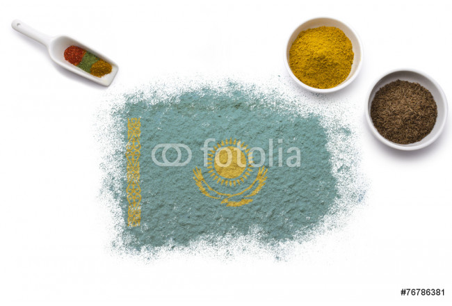 Spices forming the flag of Kazakhstan.(series) 64239