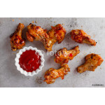 Grilled chicken wings with sauce 64239