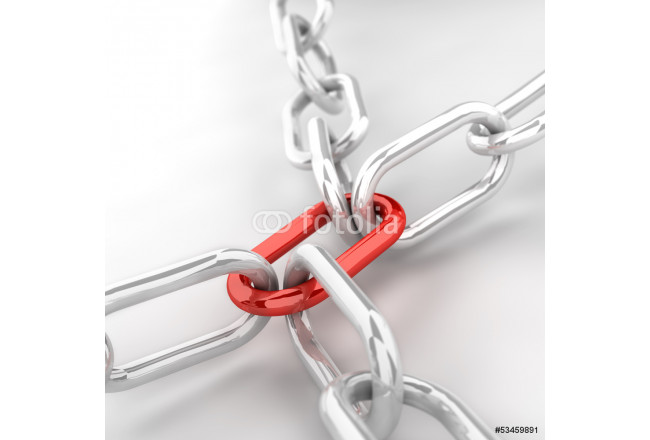 Chain with red joining link 64239