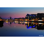 North bank of the river Liffey at Dublin City Center at night 64239