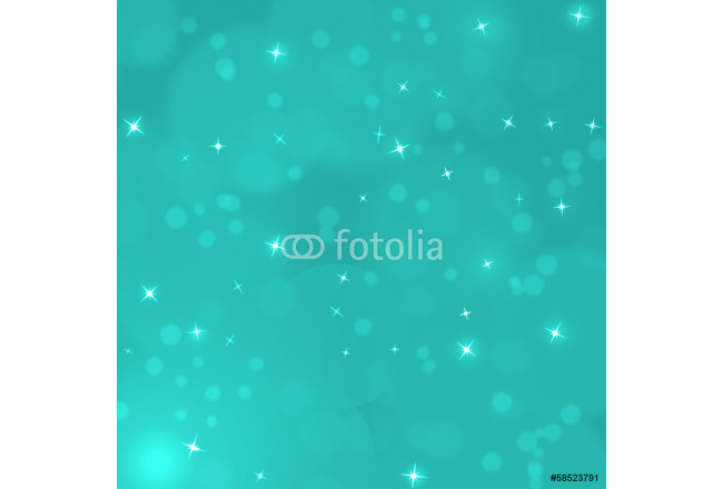 turquoise christmas background with bokeh and stars, illustratio 64239