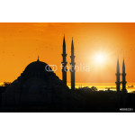 Mosque silhouette during sunset 64239