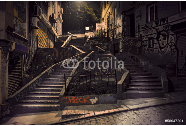 Staircase with graffiti 64239