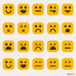 Set of different emoticons vector 64239