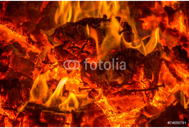 Embers from wood pallets 64239