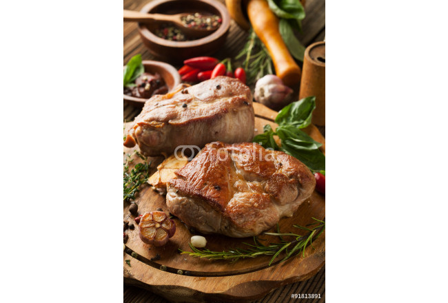 Roasted meat with spices 64239