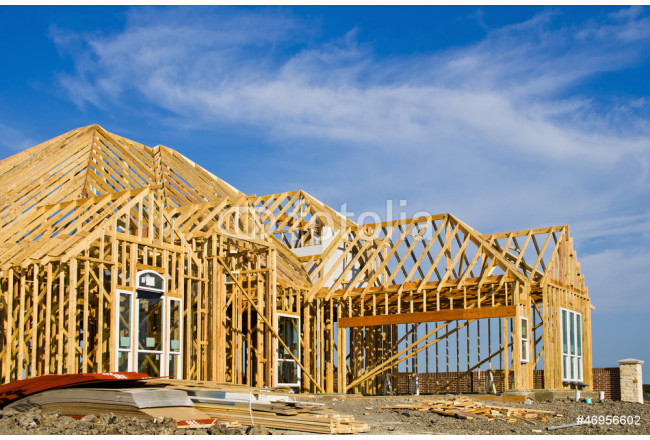 New home construction framing 64239