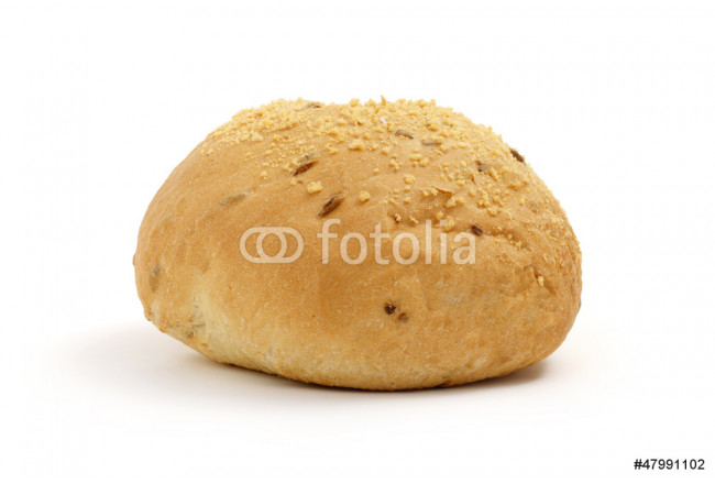 single bread on a white background 64239