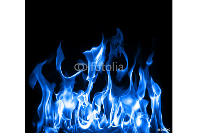Art painting Blue flames 64239