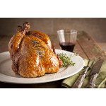 Grilled turkey on wooden plate for christmas and thanks giving 64239