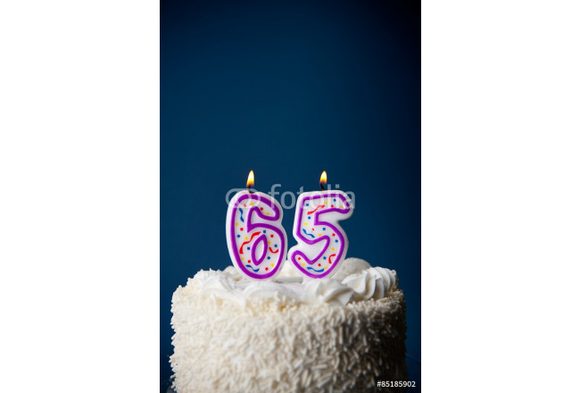 Cake: Birthday Cake With Candles For 65th Birthday 64239