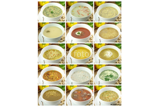 Collection of delicious and healthy soups 64239