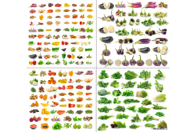 fruit and Vegetables collection isolated on white background 64239