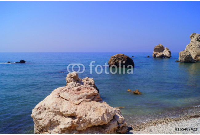 Aphrodite Bay. Beautiful beach located next to the Rock of the Greek, the birthplace of the goddess Aphrodite, Cyprus. 64239