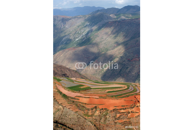 Colorful farmland in dongchuan of china 64239