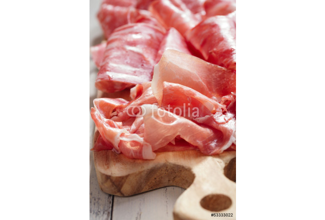 Platter of serrano jamon Cured Meat a 64239