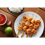 Marinated prank skewers with rice 64239
