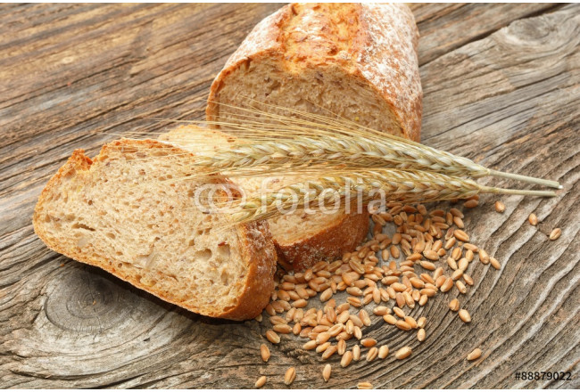 traditional bread on wooden background 64239