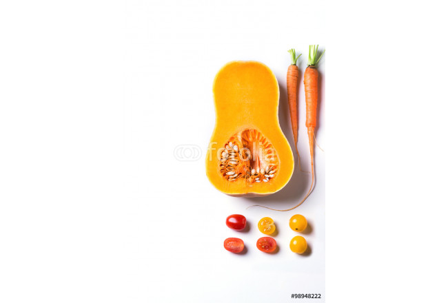 Set of red, orange and yellow vegetables 64239