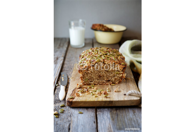 Whole-grain сake cereal with pumpkin seeds 