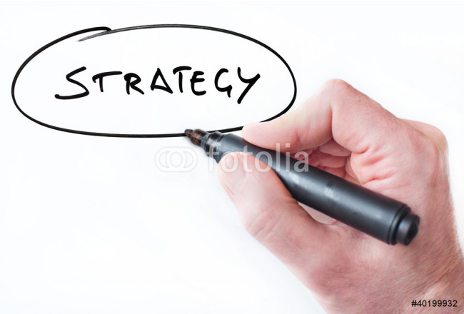Hand writing Strategy on whiteboard 64239