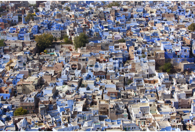 "Jodhpur the ""Blue City"" in Rajasthan, India. 64239"