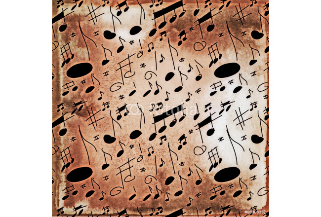musical notes old grunge pattern 64239