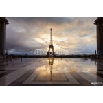 Eiffel Tower in Paris on the winter in sunrise 64239
