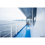 Blue floor on a ferry boat 64239
